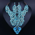 Crystal Rhinestones Large Necklace and Earrings!