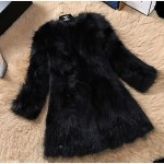 Female fox fur round collar Coats. Same as the picture.