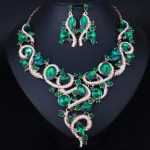 Crystal Necklace and Earrings sets for Women.Bridal Jewelry sets.