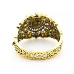 Bangles Bracelet Antique Gold Color, Resin Cuff Jewelry Hollow Flower Bangle, Indian Bridal Jewelry