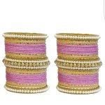 Indian Ethnic Tradition Gold Plated Bangles. Two Sets Bangles.