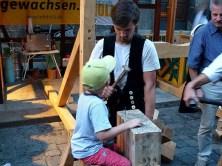 Nägel klopfen Stadtfest Dresden