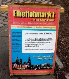 Plakat vom Elbeflohmarkt