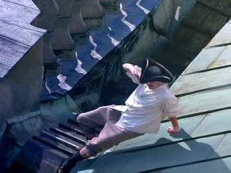 Mann auf dem Dach im Panometer Dresden