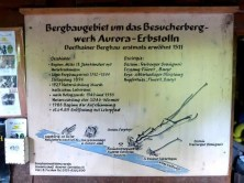 Karte Bergbaugebiet Aurora Erbstolln