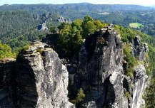 Ausblick Ausflugsziel Bastei und Felsenburg neurathen