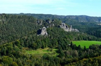Ausblick Felsen Sächsische Schweiz
