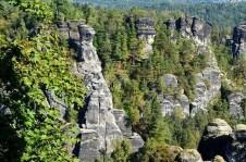 Ausflugsziel Bastei und Felsenburg Neurathen in der Sächsischen Schweiz Gesteine
