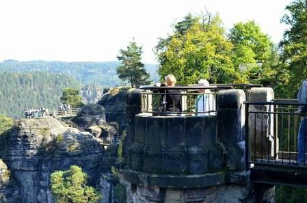 Ausflugsziel Bastei und Felsenburg Neurathen in der Sächsischen Schweiz Aussichtspunkt