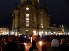 Feuershow an der Frauenkirche