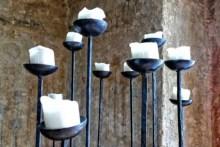 Rustikaler Kerzenständer