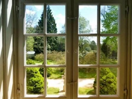 Ausblick Fenster Schloss Rammenau