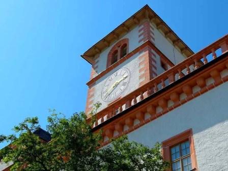 Turm Schloss Augustusburg mit Uhr