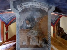 Alte Bemalung aus dem Mittelalter