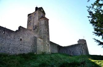 Blick von Außen auf die Burg Stolpen