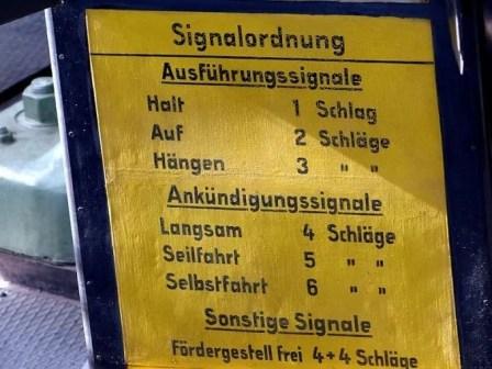 Bergbaumuseum Signalordnung