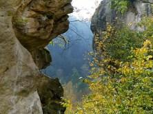 Felsspalte Burg Hohnstein