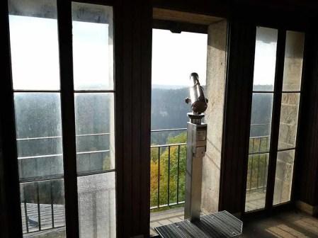 Fernglas Turm Burg Hohnstein