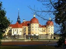 Blick aufs Schloss Moritzburg