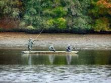 Fischer auf dem Teich