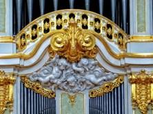 Silbermann Orgel goldene Verzierung