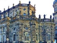 Hinteransicht Hofkirche Dresden