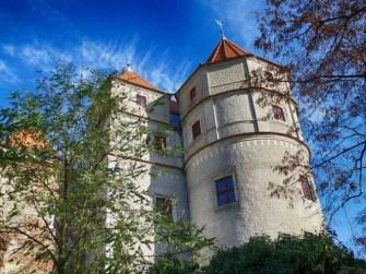 Schloss Scharfenberg Turm mit Spitze