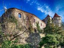 Schloss Scharfenberg Türme Mauer Bäume