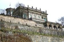 Lingnerschloss Weinstöcke Mauer
