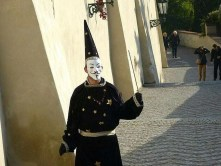 Straßenkünstler Maske Zaubererhut