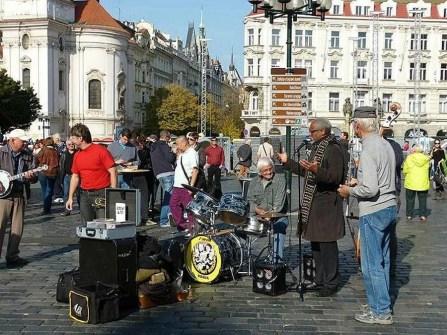 Markt Bank Künstler Musik