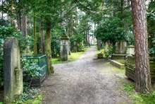 Waldweg Urnenhain Tolkewitz Krematorium
