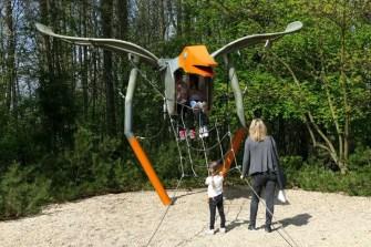 Flugstunde für KInder mit Kletternetz Saurierpark Kleinwelka