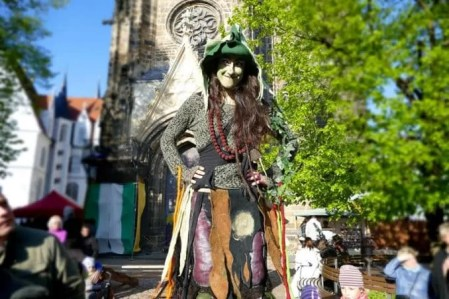 Albrechtsburg Meißen Mittelalterfest Hexe
