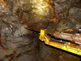 Bohrmaschinen im Bergwerk Reiche Zeche Freiberg