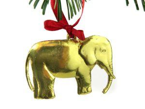 Dresdner Pappe Weihnachtsbaum glänzender Elefant