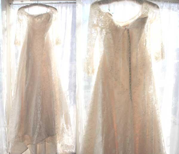 刺繍のウエディングドレス
