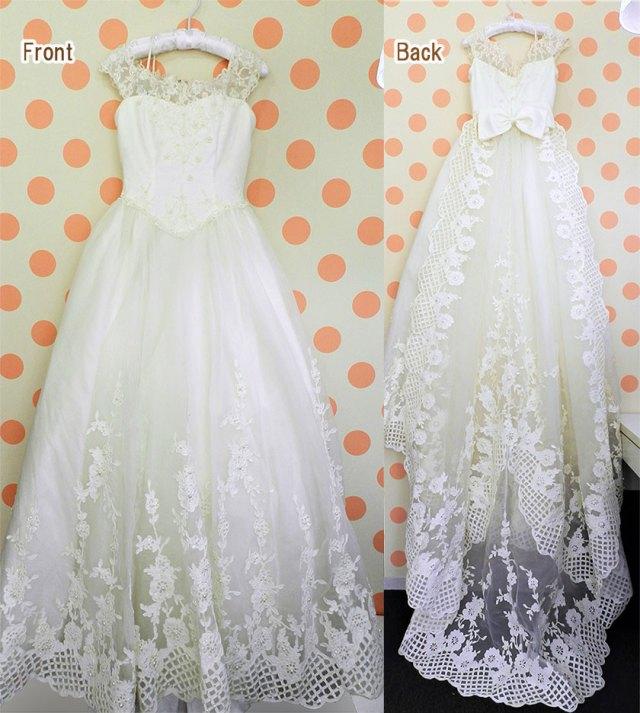 カットワーク刺繍ドレス前後