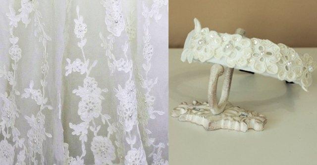 お花の刺繍のカチューシャ