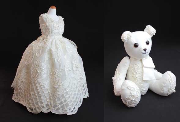 ミニチュアドレス、テディベア