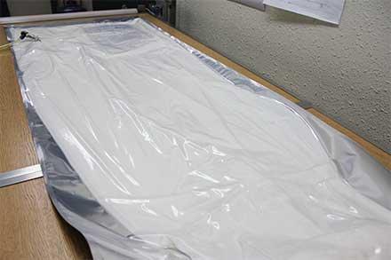 紫外線カットの加工がされている強化ガラス繊維