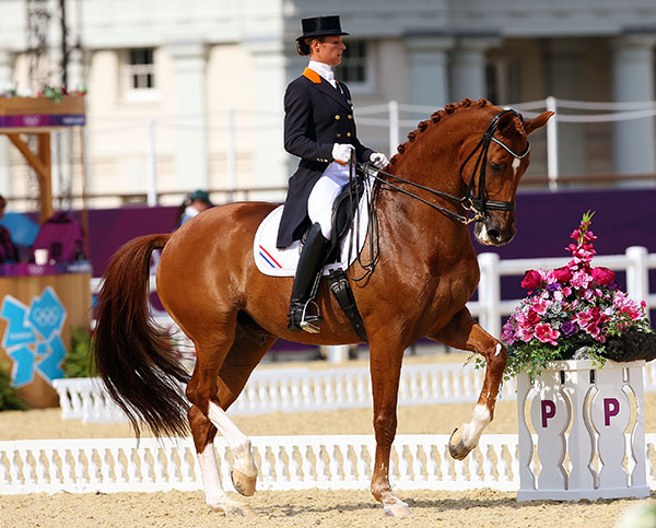 Parzival being ridden by Adelinde Cornelissen at the Olympic Games in London in 2012. ©  Ken Braddick/dressage-news.com
