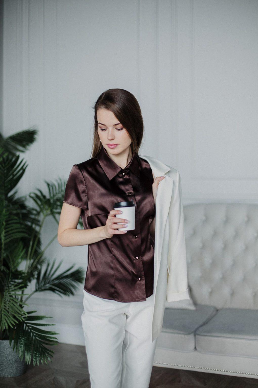 Dressarte-brown-silk-blouse-short-sleeved-2