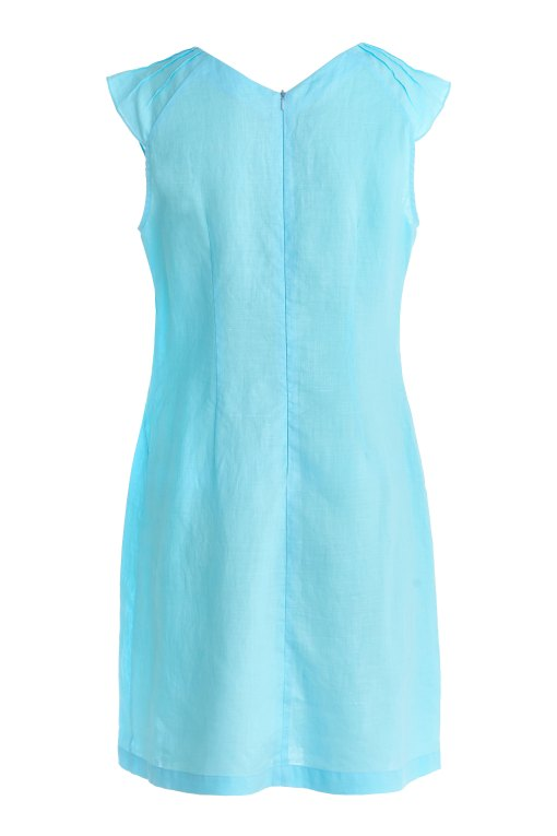 Dressarte-ramie-made-to-measure-dress-turquoise-2