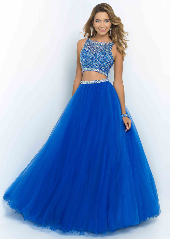 Two Piece Gowns Dressed Up Girl