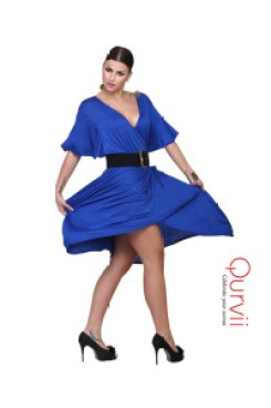 Qurvii blue dress