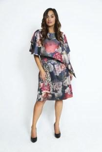 Yona New York Floral Drape Dress