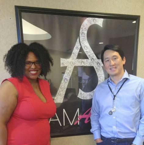 Natasha Nurse and James Rhee