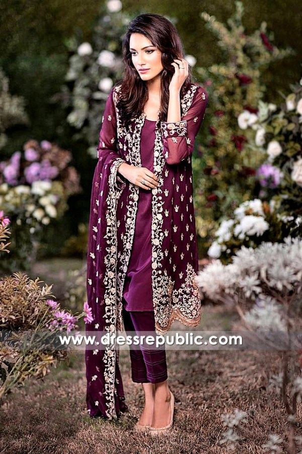 DR14165 - Berry Burgundy Front Slit Jacket Dress