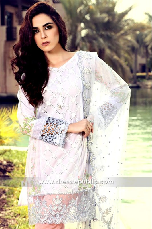 DRP6320 - Pakistani Lawn Printed Shalwar Kameez Suits 2017 Online Buy in USA